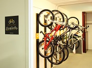 Cyclist Package: 1 night half board and bicycle storage service